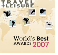 Travel+Leisure Magazine, World's Bet 2007